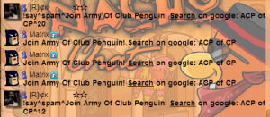 The army of Club Penguin - of Club Penguin?  Cant even chat recruit properly.