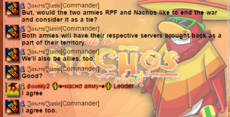 agreement between Nachos and RPF